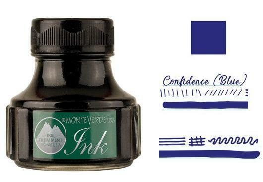 Monteverde 90ml Emotion Fountain Pen Ink Bottle, Confidence Blue Collectibles