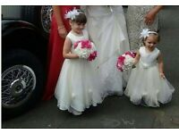 Age 4-5 and 12-18 month bridesmaid dresses