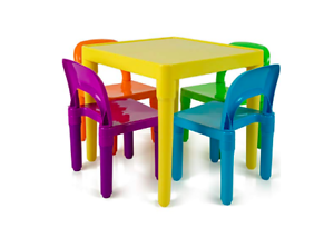 e80d706762343 OxGord Kids Table and Chairs Play Set for Toddler Child Toy Activity  Furniture I