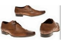 Mens New Leather Brogue Shoes (Ben Shermen)