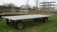HAY WAGON with Back Rack - Made by JOHN DEERE 18' Long x 8' Wide