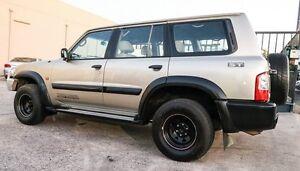 2001 Nissan Patrol GU II 3.LITRE ST  MANUAL 7 SEATS TURBO DIESEL Gold 5 Speed Manual Wagon Underwood Logan Area Preview
