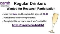 Wanted: Regular Drinkers Wanted for Research Study (Male, 25-40)
