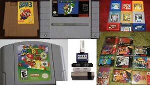 TO BUY YOUR NINTENDO / SUPER NINTENDO / N64 / GAMEBOY / GAMES $$