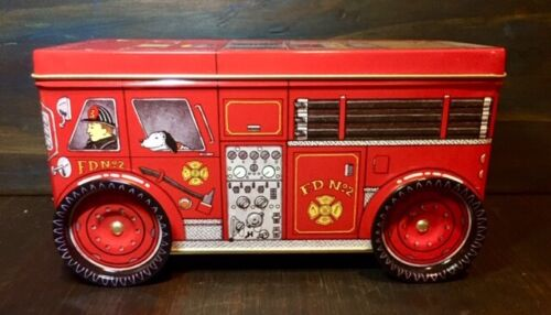 Keller Charles TinFire Engine Truck F.D. No.2 w/ Moving WheelsGreat Condition