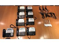 Samsung office phones package DS5014S x 8, DS5038S x 1 (reception phone), inc tel adaptors