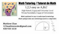 Mathematics Tutoring - High School, CEGEP and University Level