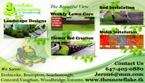 Weekly Lawn Care, Mulch Installation, Sod Laying 6474050880