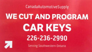 Car key cutting and programming for $100