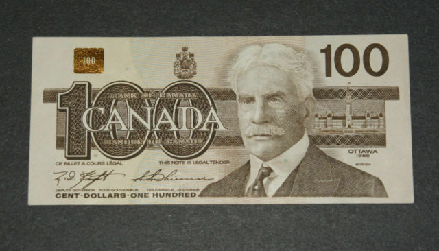 1988 100 Dollar Bills Paper Money Currency Bank Of