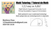 123MathTutorABC - Math tutoring available for all levels