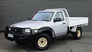 2009 Mazda BT-50 Silver Manual Cab Chassis Invermay Launceston Area Preview