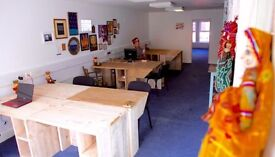 desk space to rent in shared workspace. seven sisters.