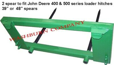 Hay Bale Mover John Deere 200-500 2 Spear 48 Long Spikes