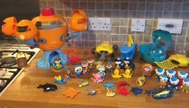 Octonaughts Octopod + Gups + lots of figuress