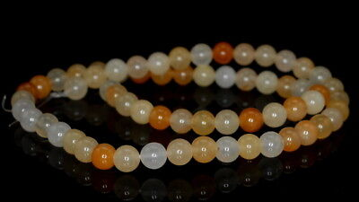 """8MM HONEY JADE GEMSTONE ROUND LOOSE BEADS 15"""" for sale  Shipping to India"""