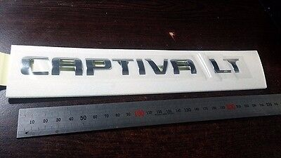"Genuine Chevrolet ""CAPTIVA LT"" Rear Trunk Script letters Emblem"