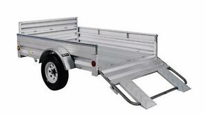 "5X7 All Galvanized Utility Trailer Upgraded to Big 13"" Tires Full Warranty Great Trailers"