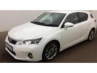 WHITE LEXUS CT 200H 1.8 F-SPORT ADVANCE PLUS LUXURY SE PREMIE FROM £45 PER WEEK!
