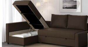 SECTIONAL CONVERTIBLE SOFA BED WITH STORAGE