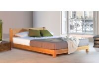 Beautiful 'Get Laid' SUPER KING SIZE (6' by 6') solid wood bed frame