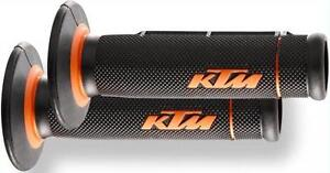 NEW-OEM-KTM-GRIPS-7-8-WITH-OPEN-ENDS-FOR-HAND-GUARDS-MXC-XC-F-XC-W-250-300-450