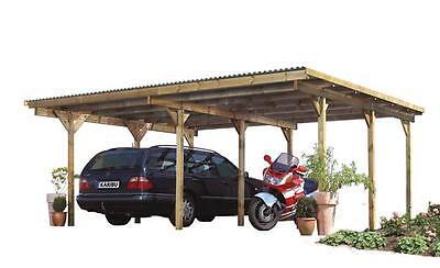 Carport Karibu Eco Doppelcarport 1 kdi 563x490cm