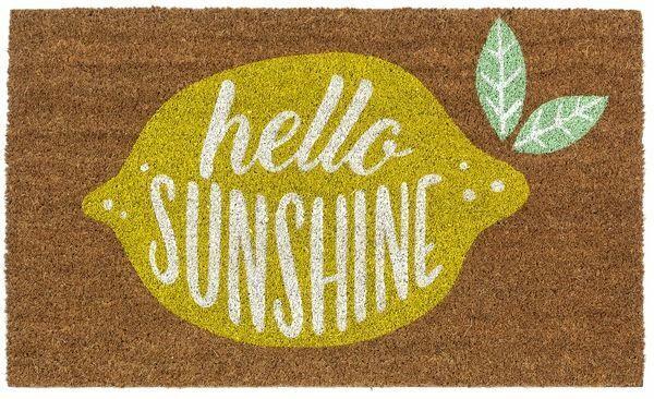"""Hello Sunshine"" Lemon Doormat"