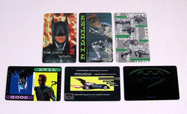 1985 DC Comics Batman Wallet Card Set (6)
