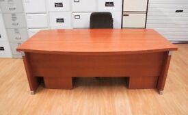 Executive bow front manager desk top spec