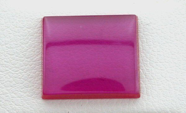 ONE 14mm x 12mm Flat Rectangle Synthetic Ruby Corundum Cab Cabochon Gemstone Gem