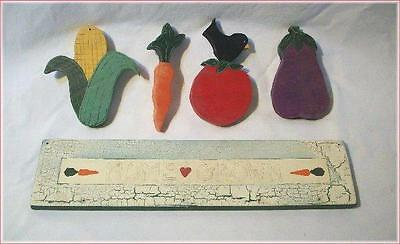 Ready to Paint Wood Craft Veggie Garden Sign HOME GROWN Country Theme