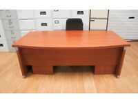 Executive office desk bow front