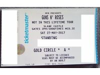 2x Guns N Roses Golden Circle Tickets