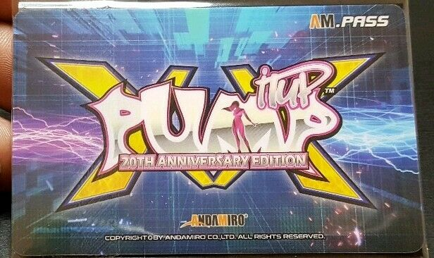 Andamiro Pump It Up XX 20th Anniversary 2019 AM.pass Cards USA Seller
