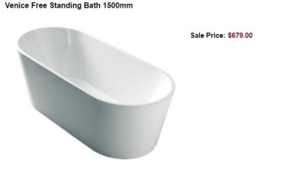 CHEAP FREE STANDING BATH TUB WAGGA WAGGA BATHROOM SUPPLIES