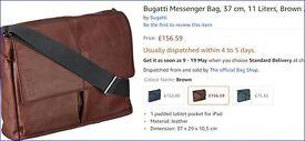 Bugatti Messenger Bag, 37 cm, 11 Liters, Brown