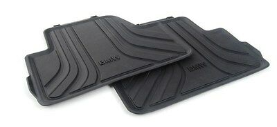 BMW Genuine All Weather Rubber Floor Mats Set Rear F33 51472350421