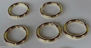 5 Solid Brass Split Key Rings 18.8mm / .74