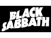 2 x BLACK SABBATH TICKETS - FACE VALUE - GLASGOW HYDRO