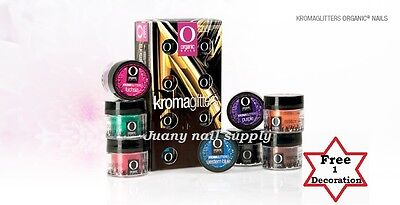 organic nail products Kromaglitters colecction **free 2 decorations**, used for sale  Phoenix