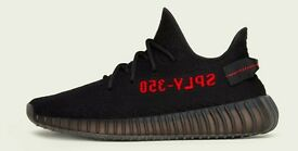 Yeezy Boost 350 V2 Black/Red - Size 6 UK