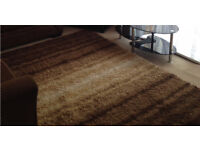 BROWN & CREAM SHAGGY RUG CAN DELIVER