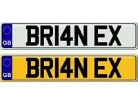 BRIAN OR BRIAN X - A VERY POPULAR NAME ON A PRIVATE NUMBER PLATE FOR SALE