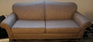 8' Solid wood frame couch