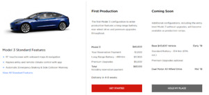 Tesla Model 3 - Be the 1st to own in 4-8 weeks ($3000)