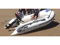 Mariner 4hp tender 4 stroke immaculate quicksilver (fishing diving etc)