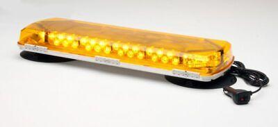 New Whelen Amber Mini Lightbar Wvacuum Mount-72 Leds Mc23va Msrp 612