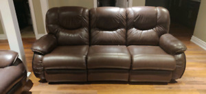 Lay-Z-Boy reclining leather couch