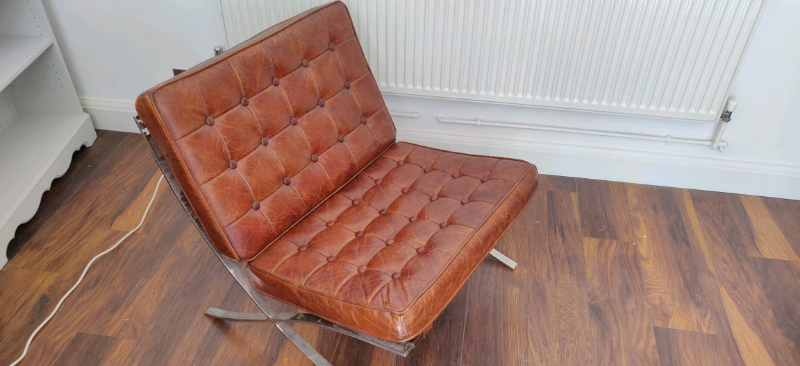 Incredible Barcelona Chair Real Leather In Earls Court London Gumtree Ncnpc Chair Design For Home Ncnpcorg